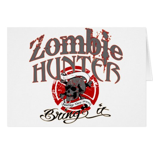 Goin' after the Zombies! Greeting Card