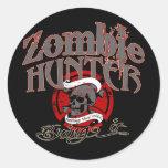 Goin' after Zombies! Round Sticker