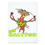 goin calypso funny lobster with maracas 5x7 paper invitation card