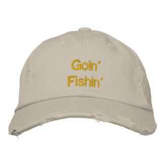 Goin Fishin Gorras Bordadas