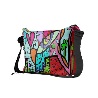 Goin' Home Abstract Doodle RED- BAG Commuter Bags