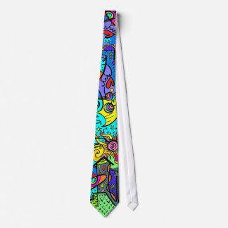 Goin Home Tie   Purple/green/blue/yellow