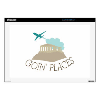 """Goin' Places Decal For 17"""" Laptop"""