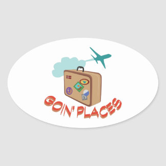 Goin' Places Oval Sticker