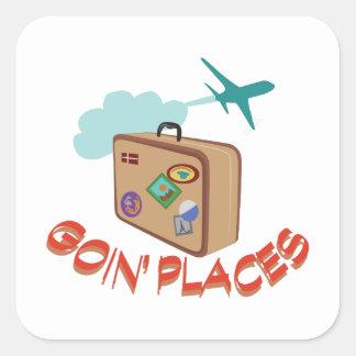 Goin' Places Square Sticker
