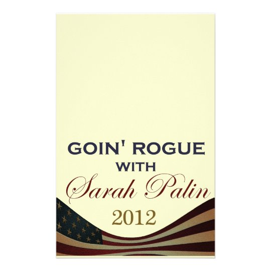 Goin' Rogue with Sarah Palin 2012 Stationery