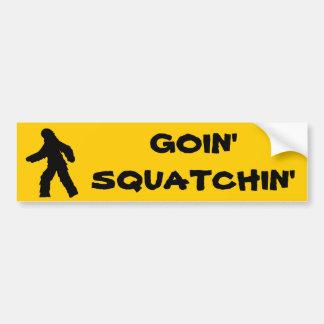 Goin' Squatchin' Bumper Sticker Car Bumper Sticker
