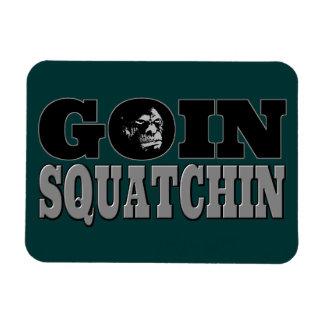 Goin Squatchin Rectangular Photo Magnet