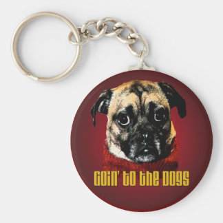 goin' to the dogs keychain