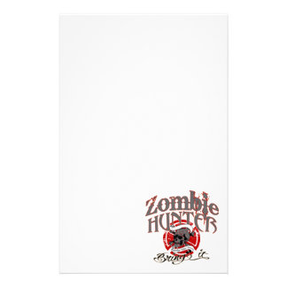 Going after Zombies Stationery Paper
