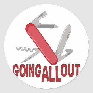 Going All Out Classic Round Sticker
