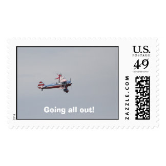 Going all out! postage