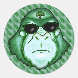 Going Ape For Irish Round Sticker