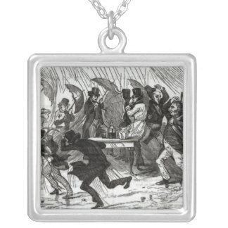 Going Around the Horn, 1849 Square Pendant Necklace