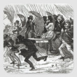 Going Around the Horn, 1849 Square Sticker