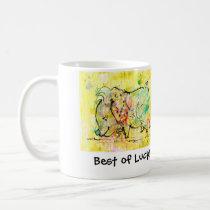 """Going Away Gift, """"Lucky Pig"""" Coffee Mug"""