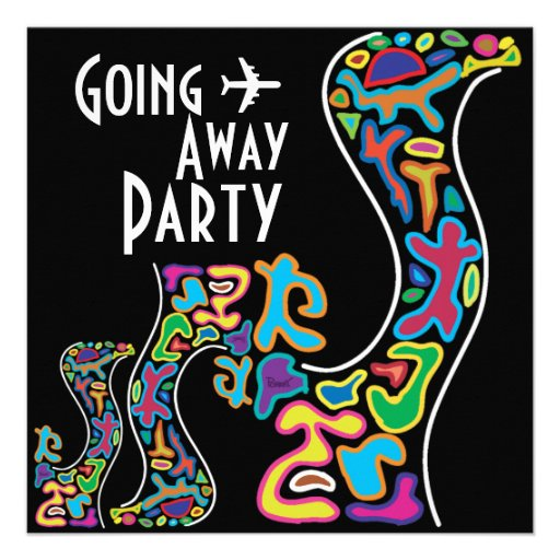 Going Away Party Invitation Card