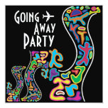 """Going Away Party Invitation Card 5.25"""" Square Invitation Card"""