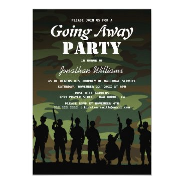 Going Away Soldier Camouflage | Welcome Home Invitation