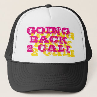 """Going Back 2 Cali"" Summer Hip-Hip Trucker Hat"