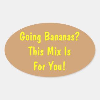 Going Bananas? Banana Bread Jar Label Oval Stickers