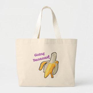 going bananas! banana large tote bag