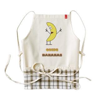 Going bananas zazzle HEART apron
