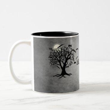 Halloween Themed Going Batty Silver Halloween Coffee Mug