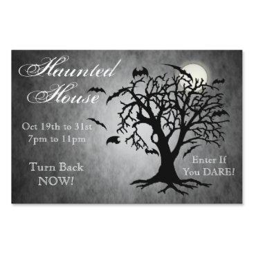 Halloween Themed Going Batty Silver Halloween Yard Sign