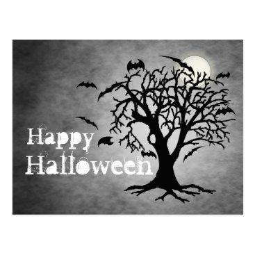 Halloween Themed Going Batty Silver Moon Halloween Postcard