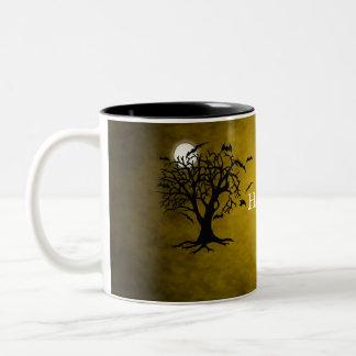 Going Batty Yellow Halloween Coffee Mug