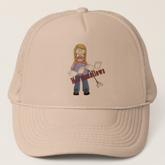 Going Camping Girl Trucker Hat