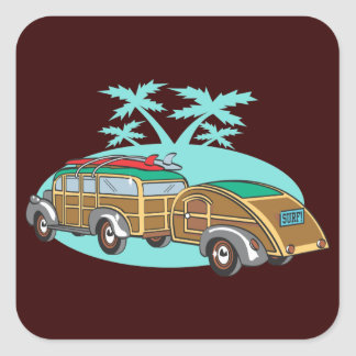 Going CAmping in my Woody Square Stickers