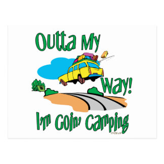 Going Camping Postcard