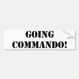 Going Commando Bumper Sticker