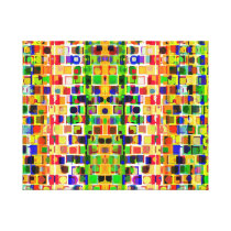 Going Crazy Colorful Abstract Pattern Canvas Print