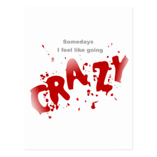 Going Crazy Postcard