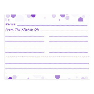 Going Dotty Blank Recipe Cards
