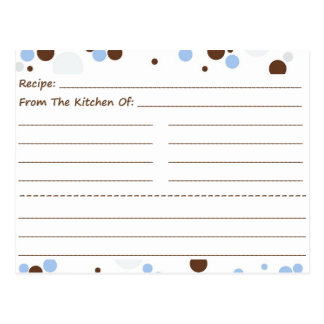 Going Dotty Blank Recipe Cards Postcards