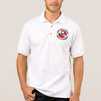 Going Down Is Optional (Skull) Apparel Polo Shirt