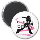 Going Down Pink Catcher Softball Magnets