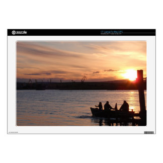 """Going Fishing At Sunset Decals For 17"""" Laptops"""