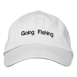 Going Fishing Embroidered Baseball Hat