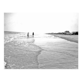 Going Fishing Photo In Black & White Postcard