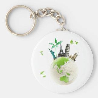 Going for Green! Basic Round Button Keychain