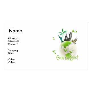 Going for Green! Business Card Template