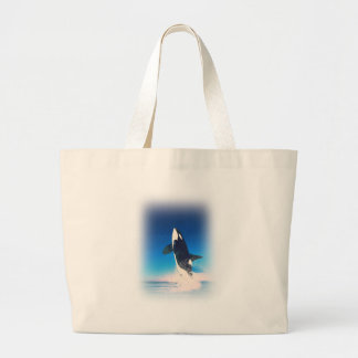Going for the Breach Killer Whale Tote Bags