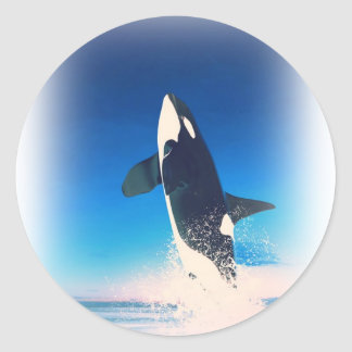 Going for the Breach Killer Whale Classic Round Sticker