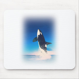 Going for the Breach Killer Whale Mouse Pad