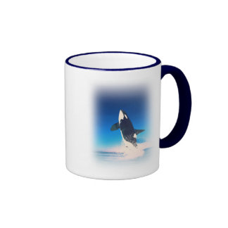 Going for the Breach Killer Whale Ringer Mug